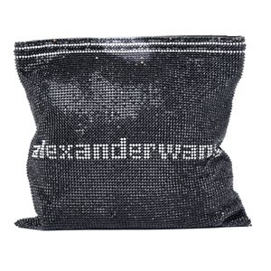 NWT$1500 Alexander Wang Logo Wanglock Mesh Pouch